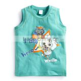 Boys and Childrens Printing Sleeveless T-shirt