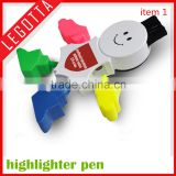 2016 wholesale most popular colorful advertising novelty snowman marker pen