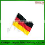 polyester car germany flag with plastic pole