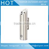 Standing Ashtray Smoking Cigarette Bin Stainless Steel Trash Can Outdoor201A