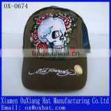manufacturer customised embroidery logo fake hair hat