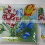 salad glass bowl and plate,glass plate, glass plate,high quality plate made in zibo city shandong china
