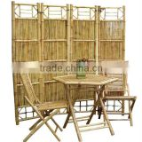Bamboo Screen Table and Chair Set