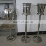 Stainless steel wine bucket with stand