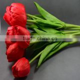 artificial real touch mini pu material latex tulip flower