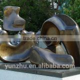 Larger Outdoor bronze abstract art sculpture