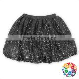 Latest Fashion Dresses Children Frock Model Black Sequin Skirt Top With Elastic Waist For 2 Year Old Girl Dress Tutu