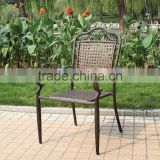 restaurant chair bistro chair aluminum/cast aluminum chair/chair aluminum rattan seat and back