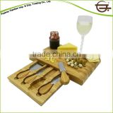 Bamboo Olive Thick Cheese Bread Cutting Board With Knife