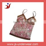 js-13 ladies Sexy Fancy Camisole with Panty of leopart printing(accept OEM)