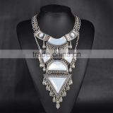 New design multilayer moonstone alloy necklace jewelry wholesale