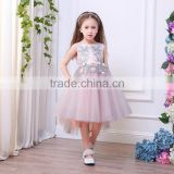 Flower Girl Dresses With embroidery Beaded Crystal Lace Up Applique Ball Gown First Communion Dress for Girls Customized
