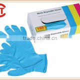 CE&FDA approved Medical Non sterile disposable powder free nitrile examination gloves purple/blue