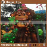 2016 new amusement park cartoon solar power lantern, monkey lantern