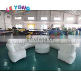 Round Shape Modern Living Room White Inflatable Air Lounger Fireproof Sofa