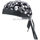 HMB-901AF13 FABRIC LEATHER BAND SKULL CAP DURAG HEAD WRAP BANDANA SKULLCAP HATS SCARF