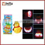 Lovely yellow bear led spinning top wholesale