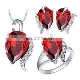 High quality Fashion big diamonds necklace set wholesale for women