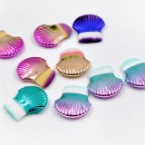 1 Pcs Purple makeup brush shell new single small seashells cleanser brushes