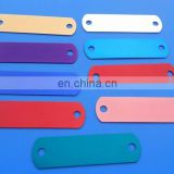 wholesale blank rectangle anodized aluminum logo plate with two holes