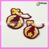 Wholesale hand embroidery bullion wire badges in china