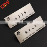 Wholesale metal Logo Printing Aluminium Metal Nameplate;name badge;pin metal name tag