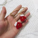 Yarncrafts Amigurumi  Christmas gifts Handmade earrings Crocheted Doll baby kids toy gifts
