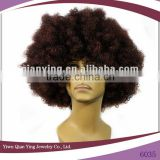 cheap extreme brown football sports fan afro wigs