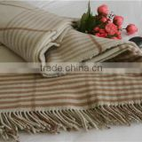 100%Australia wool NO.1 China blanket factory custom picnic textile fabric luxury camping woolmark throw blanket