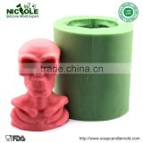 LZ0111 3D Skull Shaped Soft Handmade Silicone Rubber Molds For Decorative Soap Candle Making