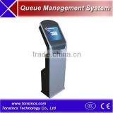 17'' touchscreen queue Ticket Dispenser Kiosk with Dual Thermal Printer