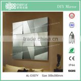 Float reflective glass mirror back painted glass panels