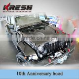 Made in china 10th anniversary engine cover, 10th annversary hood for Jeep wrangler JK                                                                         Quality Choice