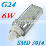 PL G24 LED Light SMD 3014 6W Corn Lamp 55 LEDs