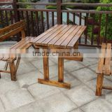 patio solid wooden bench garden bench wooden slats hot sale