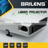 "Portable laser 3800 lumens HD home cinema 300"" 1080p 3d led projector/dlp projector"