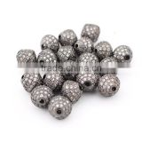 CZ6664 High Quality Gunmetal Plated Cubic Zirconia Bicone beads, CZ micro pave diamond shape beads                                                                         Quality Choice