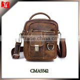 Hot sale retro top genuine leather men vintage shoulder bag, messenger bag for men with wholesale price China