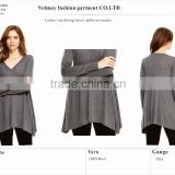 Perfect quality very soft handfeel 2016 Fall/winter 100% cashmere v neck long sleeve pullover sweater                                                                         Quality Choice