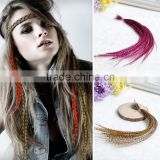 2015 Hot Selling Rooster Tail Feather Feather Hair Extension Cheap Hair Extensions Feather Hair Accessories Rooster Feather