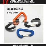 plastic hook, plastic snap hook, bag carabiner hook for keychain