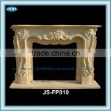 Golden marble designed fireplace