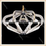 Factory quality insured modern wedding chandelier K9 crystal hanging led lights for supper room