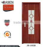 The newest China classic glass single swing doors wood door design window for home decoration