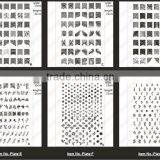 New Arrival 001- 010 Series Stamping Image Plates Medium Nail Art Stamping Plates Nail Tools Wholesale