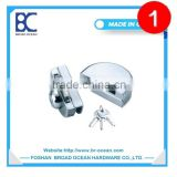 frameless glass door lock/commercial glass door lock/sliding glass door key locks(DL-B001)