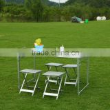 4 seat Aluminium Outdoor Furnitue leisure picnic table camping table                                                                         Quality Choice