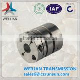 JL series flexible aluminium shaft helical coupling anti backlash