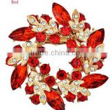 2015 fashion high quanlity crystal chinese redbud flower for elegant lady brooch