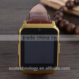 15$ W90 Bluetooth Smart Watch 6260A Men Luxury Leather Business Wristwatch Knight Full View HD